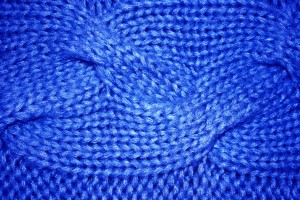 Cobalt Blue Cable Knit Pattern Texture - Free High Resolution Photo