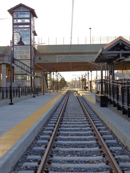 Light Rail Train Tracks and Station - Free High Resolution Photo