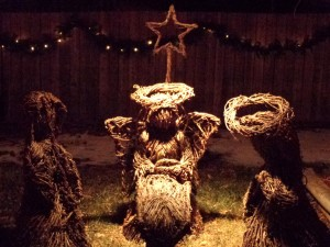 Nativity Scene made from Wicker - Free High Resolution Photo