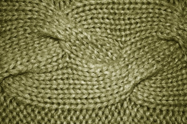 Olive Green Cable Knit Pattern Texture - Free High Resolution Photo