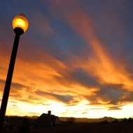 Sunset with Lamp Post in Foreground - Free High Resolution Photo