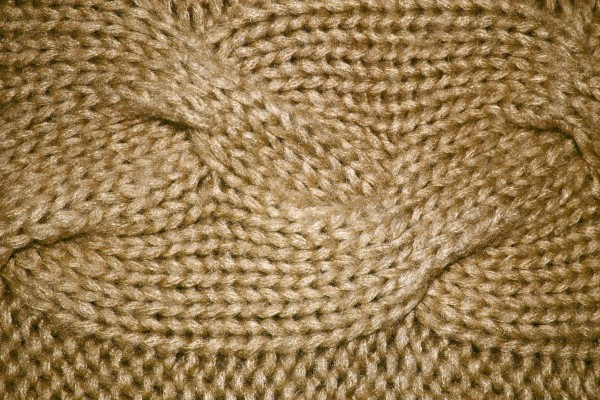 Tan Cable Knit Pattern Texture - Free High Resolution Photo