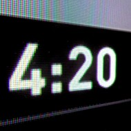 4:20 - Digital Time Display Reading Twenty Minutes past Four O'Clock - Free High Resolution Photo