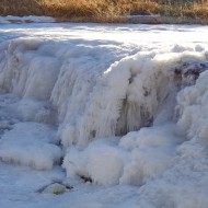 Frozen Waterfall on Winter River - Free High Resolution Photo