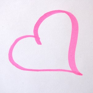Heart Drawn in Pink Magic Marker - Free High Resolution Photo