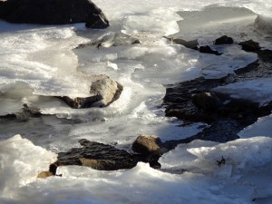 Water Running under Melting Ice on Stream - Free High Resolution Photo