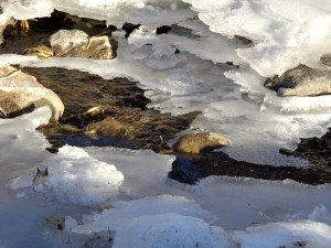 Winter Stream with Melting Ice - Free High Resolution Photo