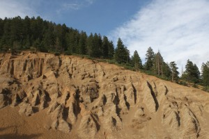 Mountain Ridge with Erosion in Foreground - Free High Resolution Photo