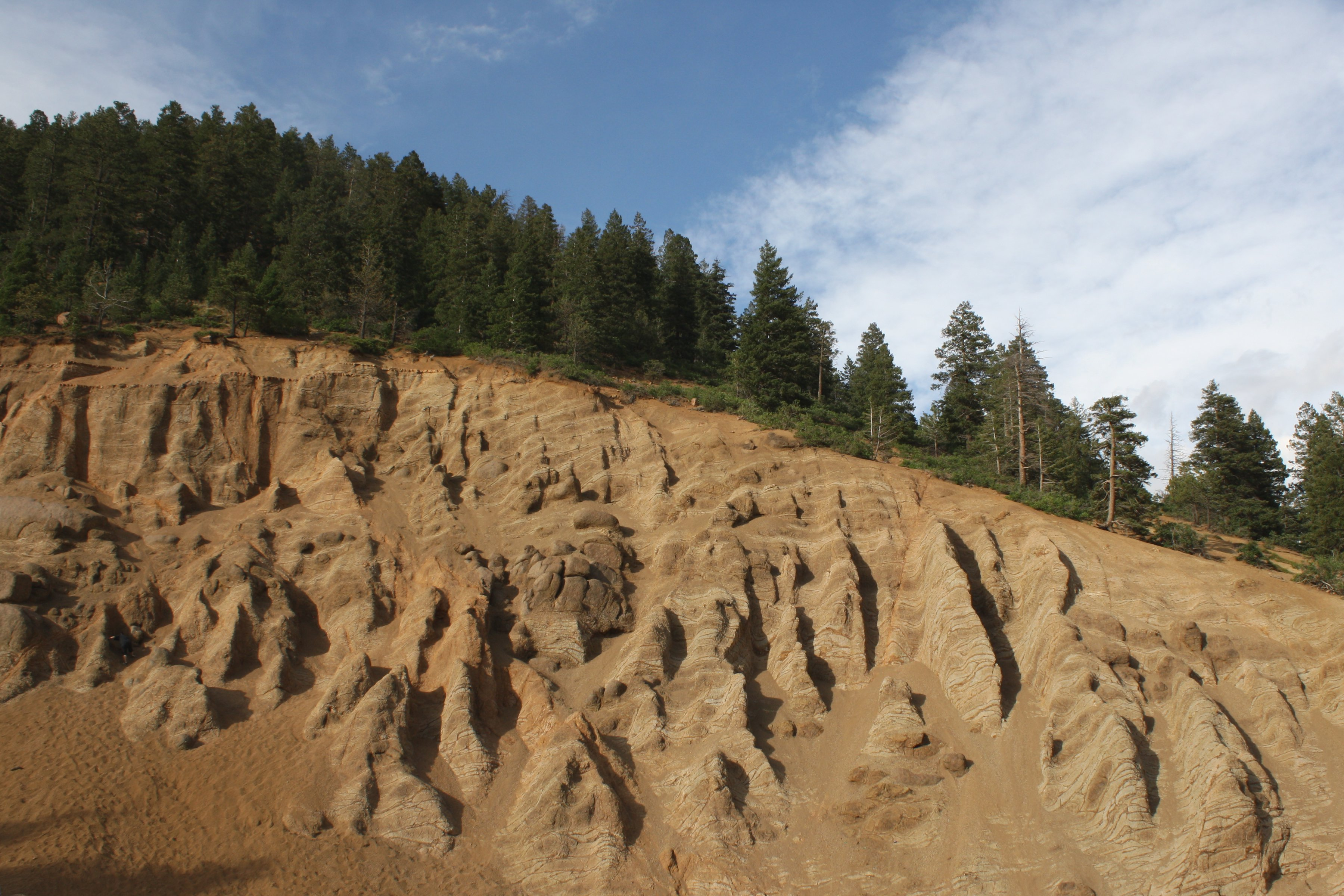 Mountain Ridge with Erosion in Foreground Picture | Free ...