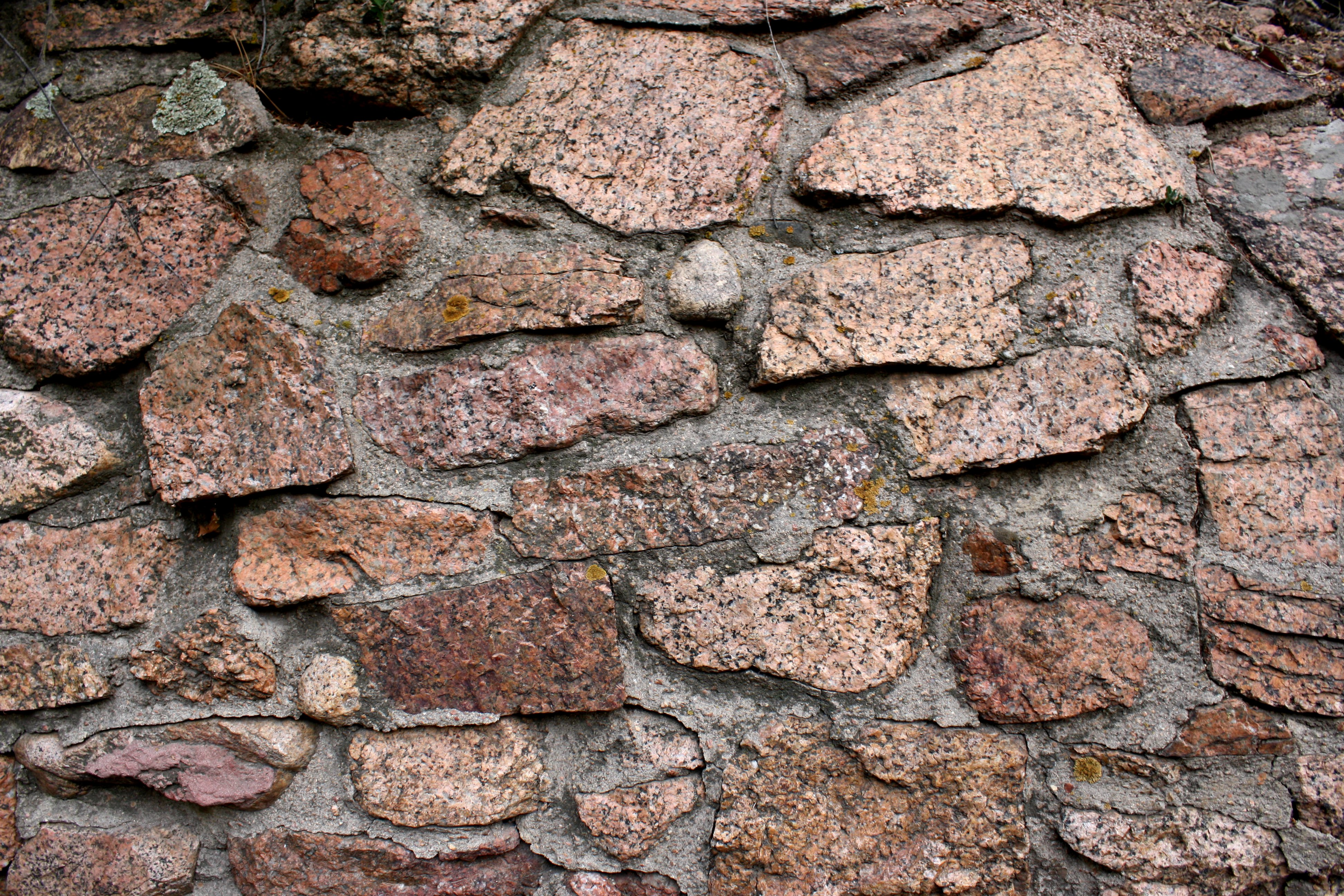 Rock And Cement Wall Texture Picture Free Photograph