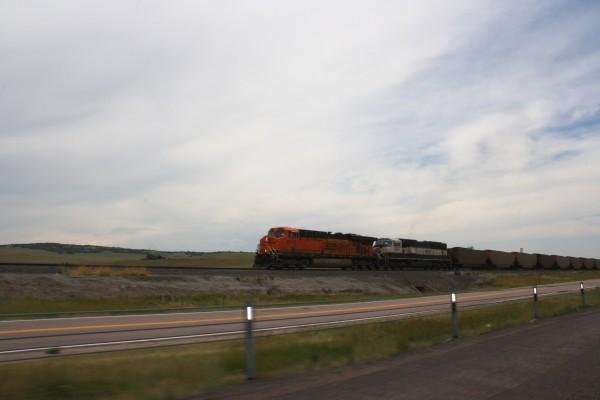 Train Hauling Coal Cross Country - Free High Resolution Photo