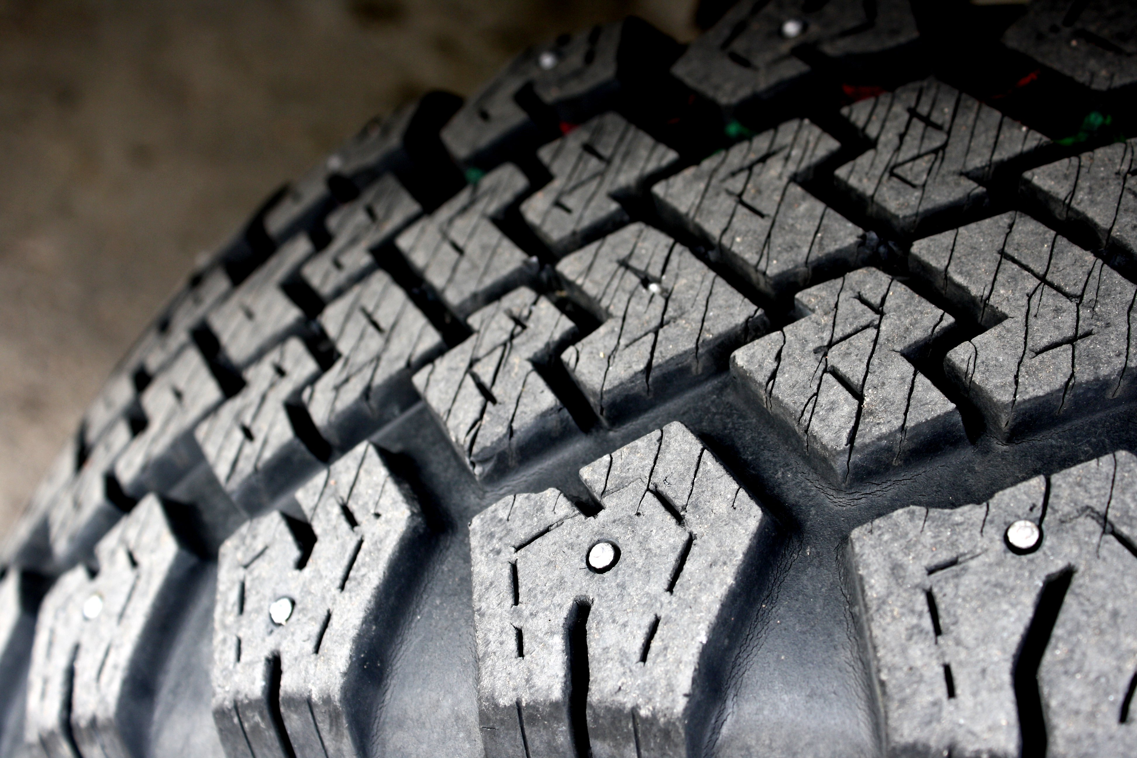 Studded Snow Tire Texture Close Up Picture Free