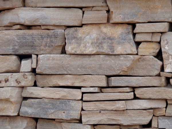 Sandstone Rock Wall without Mortar Texture - Free High Resolution Photo