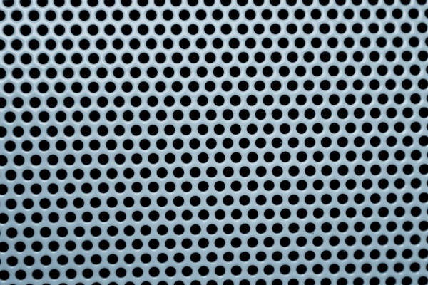 Blue Gray Metal Mesh with Round Holes Texture - Free High Resolution Photo