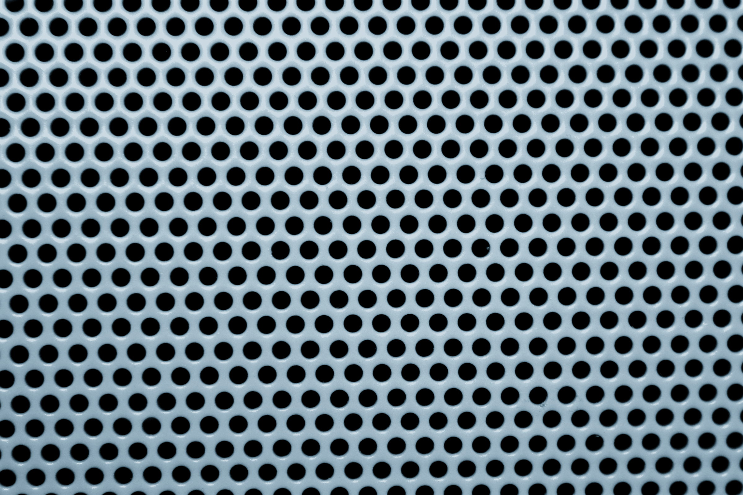 Blue Gray Metal Mesh With Round Holes Texture Picture