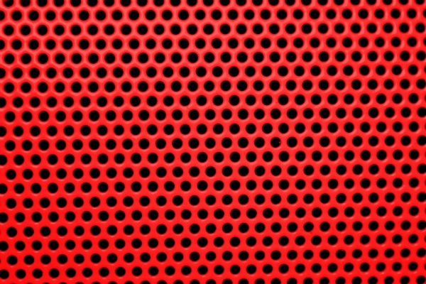 Bright Red Mesh with Round Holes Texture - Free High Resolution Photo