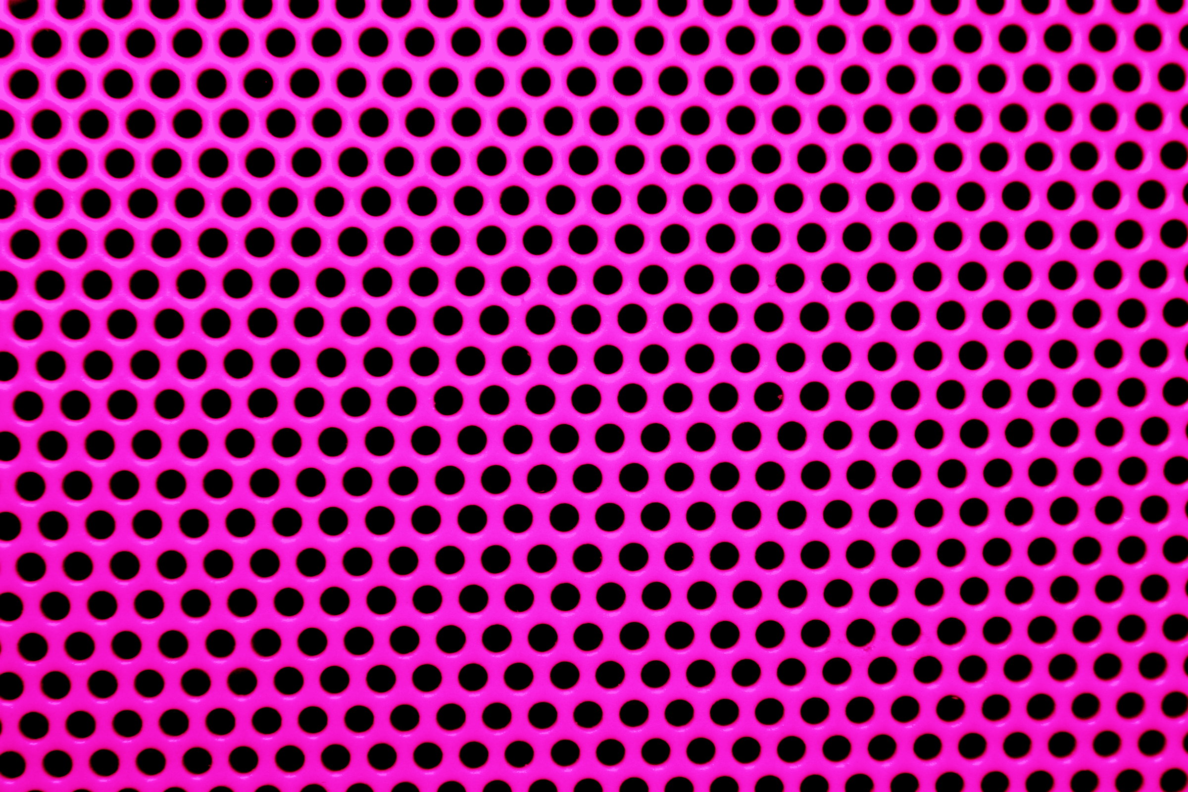 Fuchsia Hot Pink Metal Mesh With Round Holes Texture