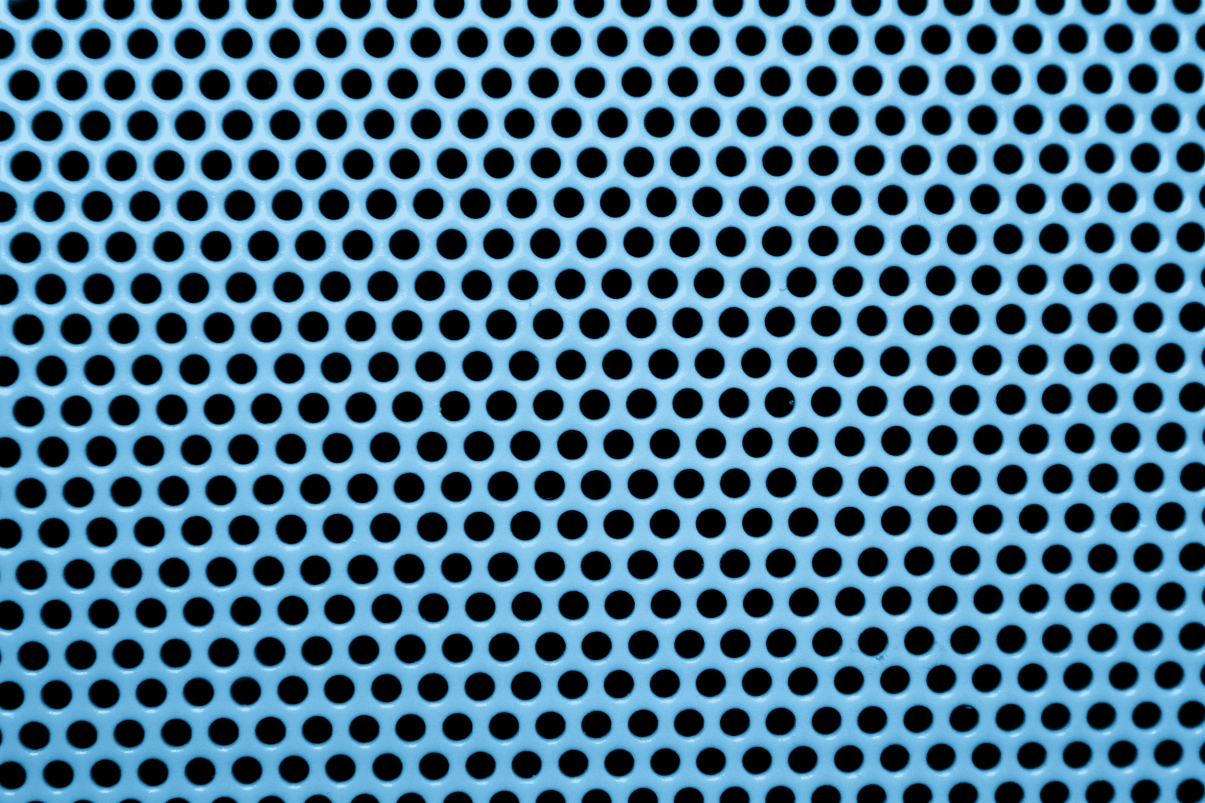 Light Blue Metal Mesh With Round Holes Texture Picture