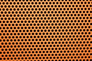 Orange Metal Mesh with Round Holes Texture - Free High Resolution Photo