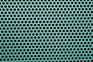 Teal Metal Mesh with Round Holes Texture - Free High Resolution Photo