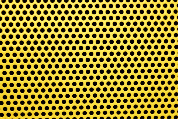 Yellow Metal Mesh with Round Holes Texture - Free High Resolution Photo