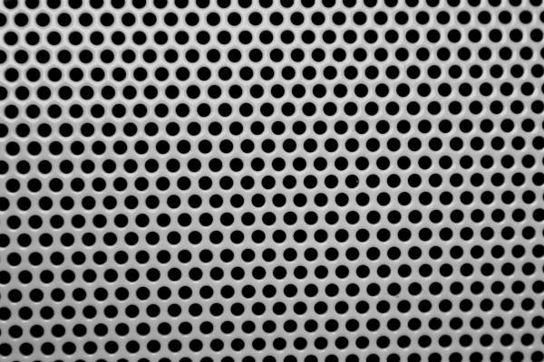 Gray Metal Mesh with Round Holes Texture - Free High Resolution Photo