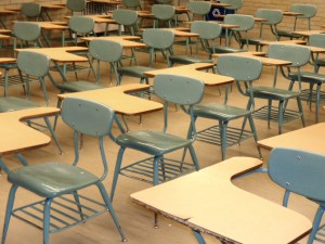 Classroom Desks - Free High Resolution Photo