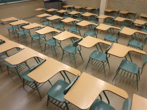 School Classroom with Empty Desks - Free High Resolution Photo