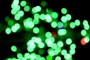 Blurred Christmas Lights Green - Free High Resolution Photo