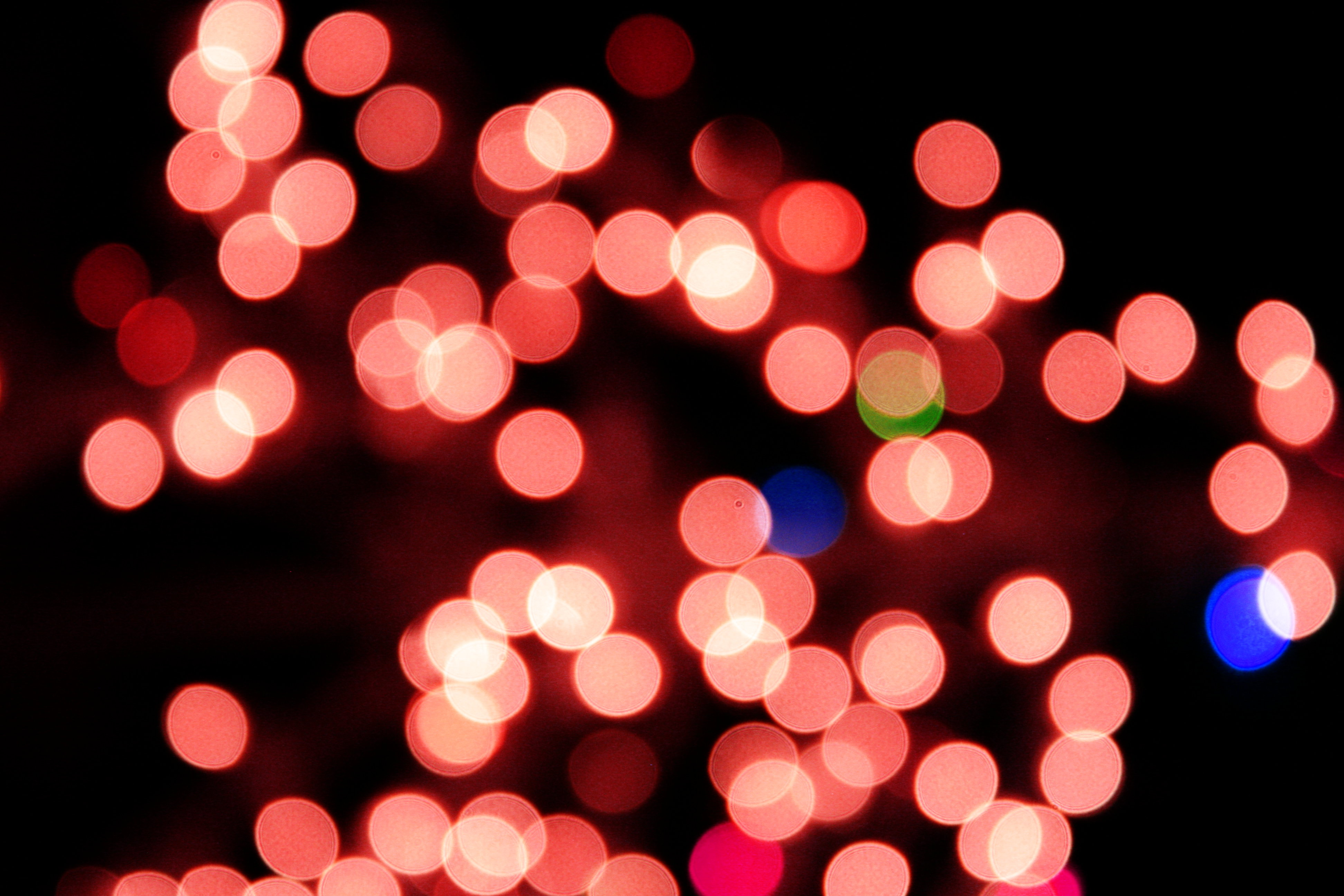 Blurred Christmas Lights Red Picture Free Photograph