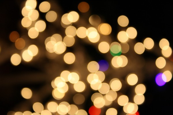 Blurred Christmas Lights White - Free High Resolution Photo