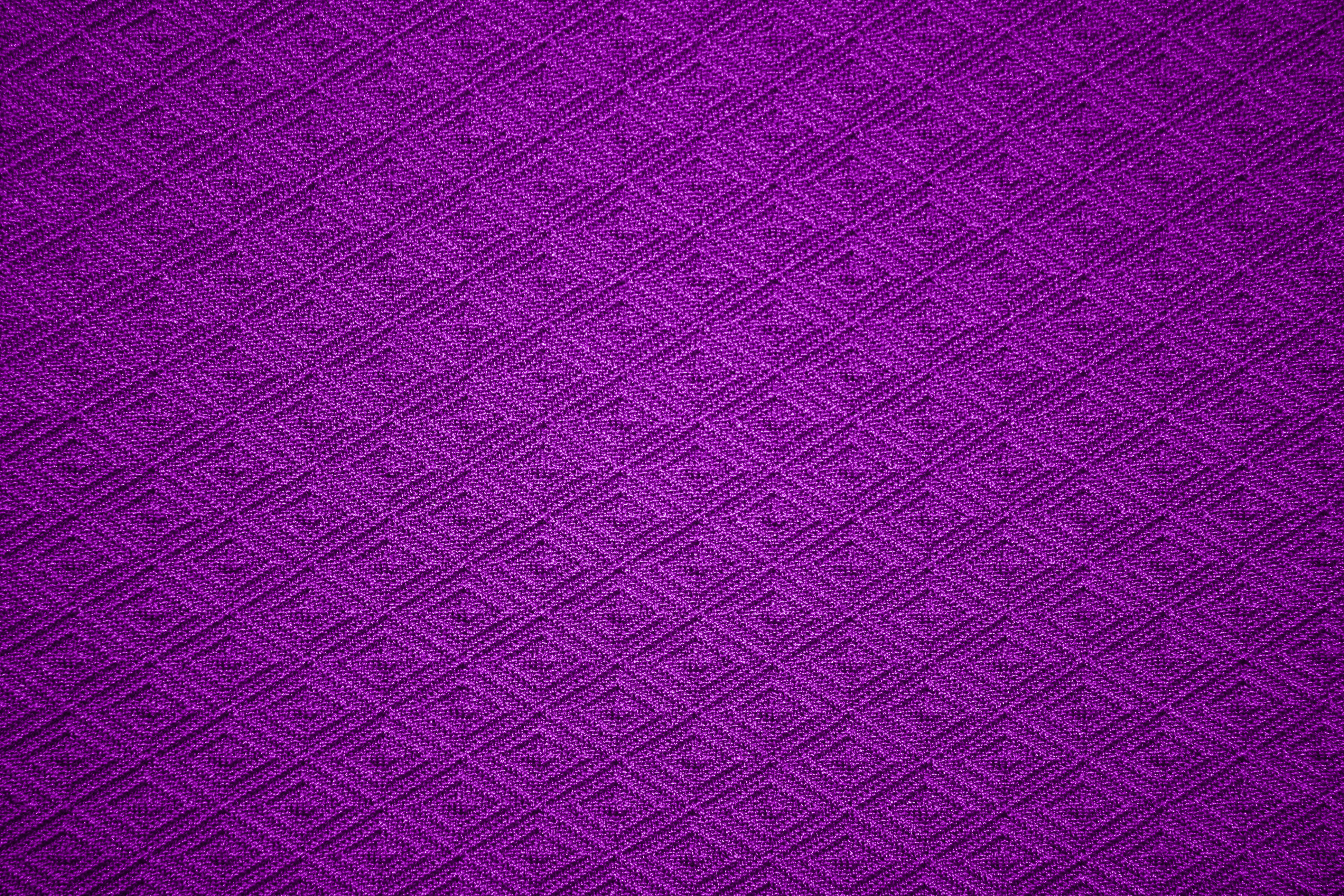 Deep Purple Knit Fabric With Diamond Pattern Texture