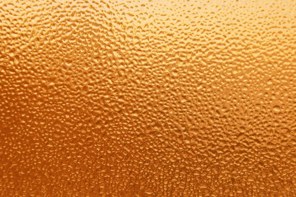 Dimpled Ice on Glass Texture Colorized Orange - Free High Resolution Photo