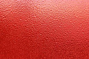 Dimpled Ice on Glass Texture Colorized Red - Free High Resolution Photo