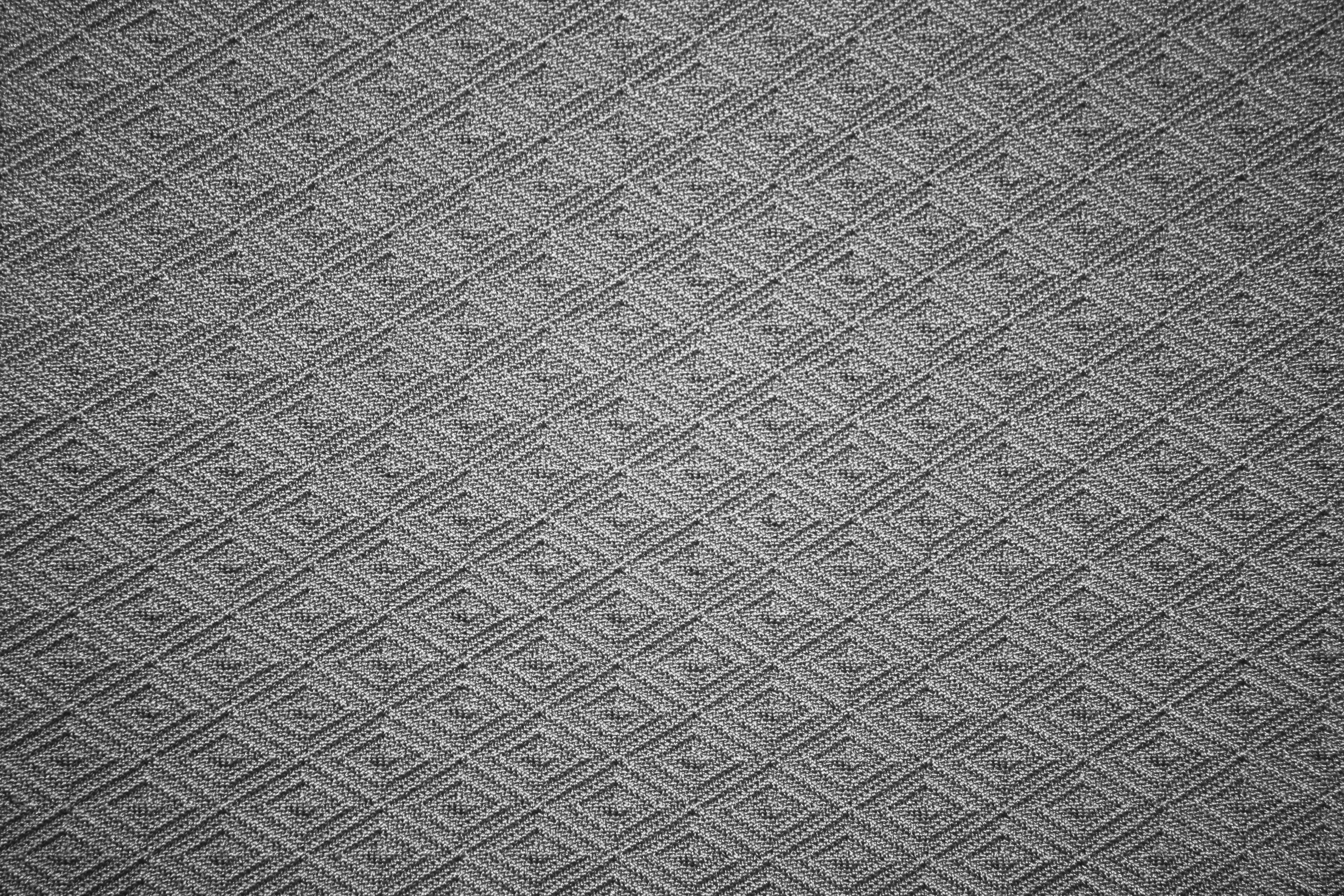 Gray knit fabric with diamond pattern texture picture for Patterned material fabric