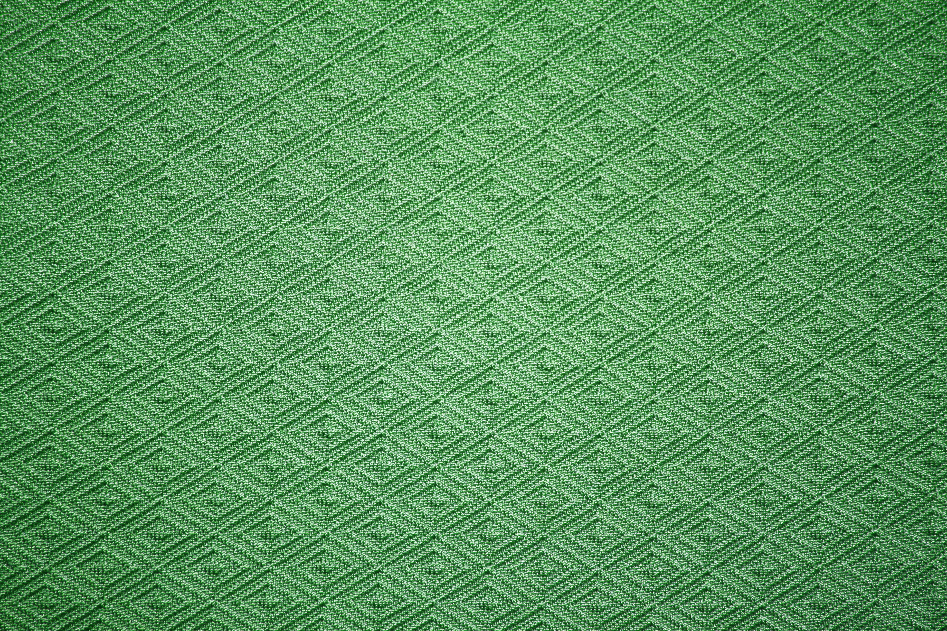 Green Knit Fabric With Diamond Pattern Texture