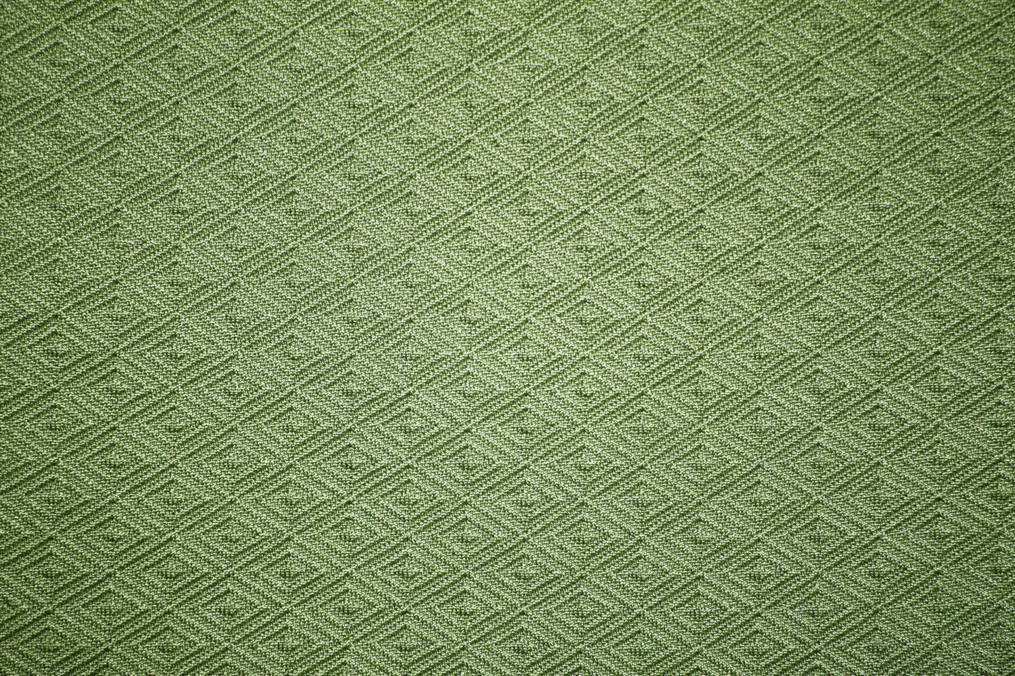Olive Green Knit Fabric With Diamond Pattern Texture