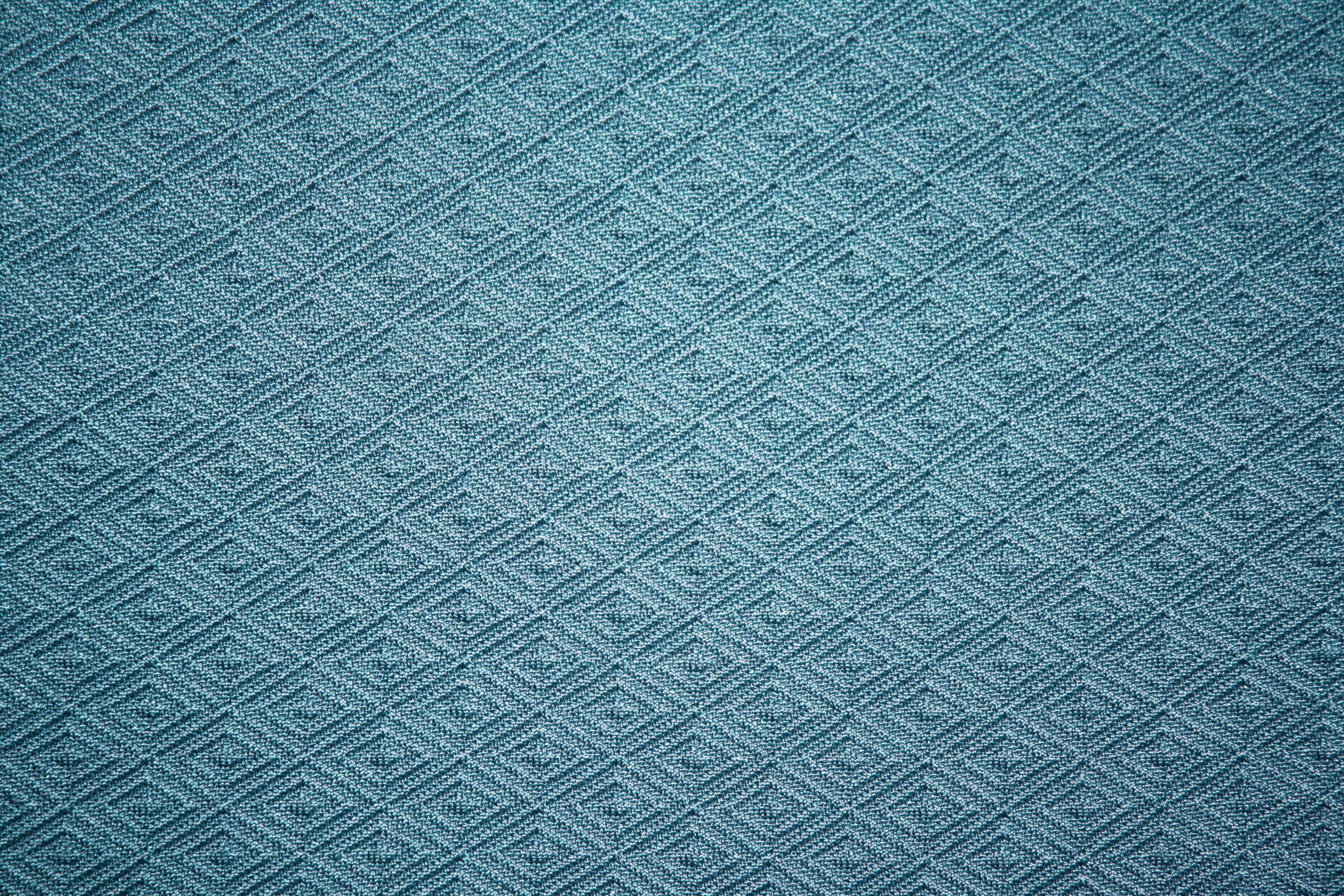 Teal Knit Fabric with Diamond Pattern Texture Picture | Free ...