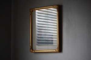 Mini Blind Reflected in Picture Frame Glass - Free High Resolution Photo