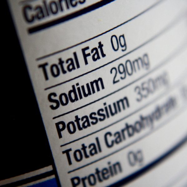 Nutrition Label - Fat, Sodium, Potassium - Free High Resolution Photo