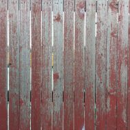 Weathered Red Painted Wood Fence Texture - Free High Resolution Photo