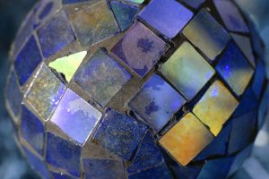 Blue Glass Mosaic Ball - Free high resolution photo