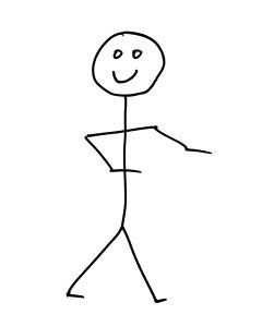 Smiling Stick Figure Person - Free High Resolution Clipart