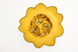 Acorn Squash Half with Seeds - Free High Resolution Photo
