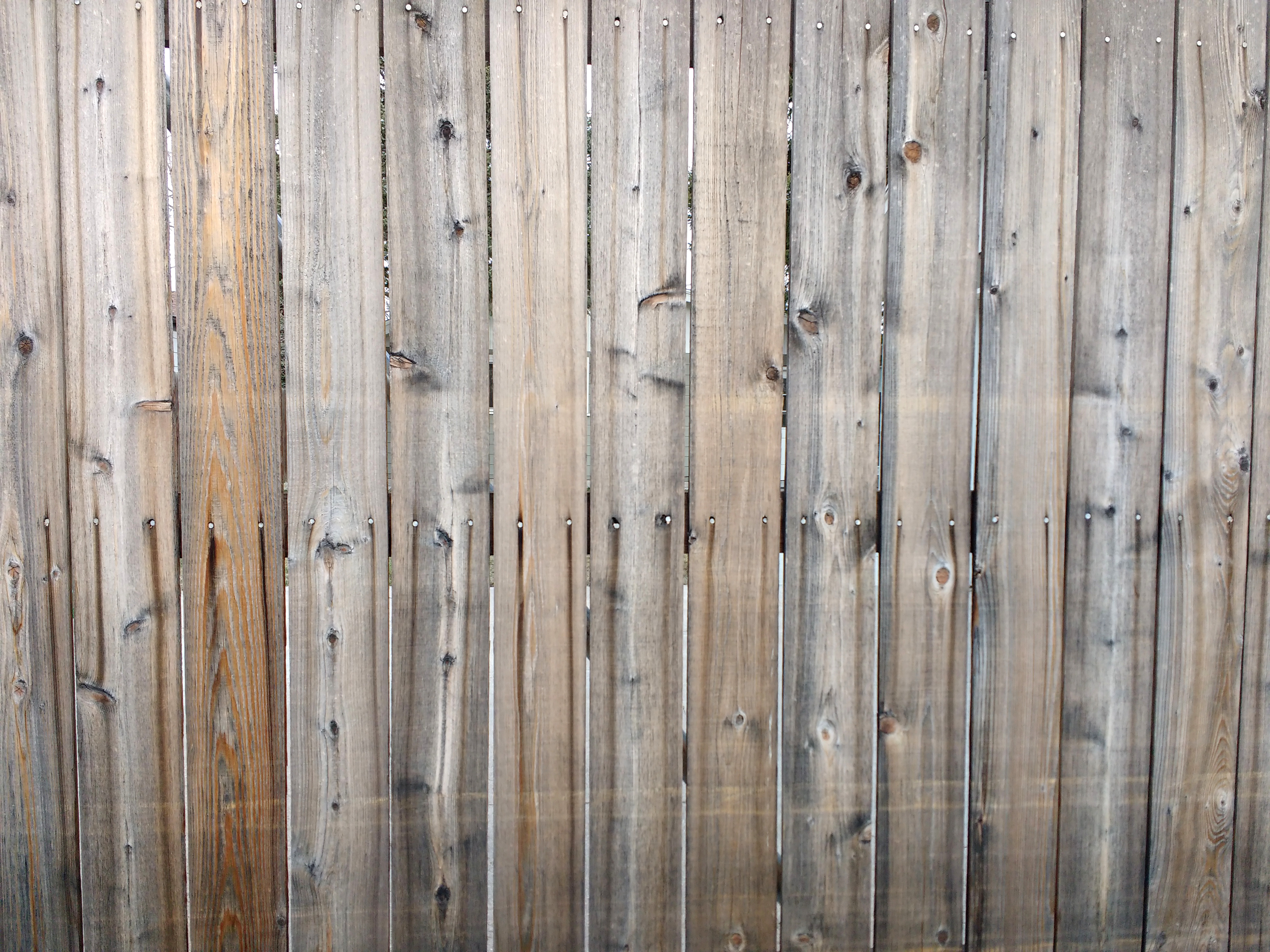 Wooden Fence Boards Texture With Nail Streaks Picture Free