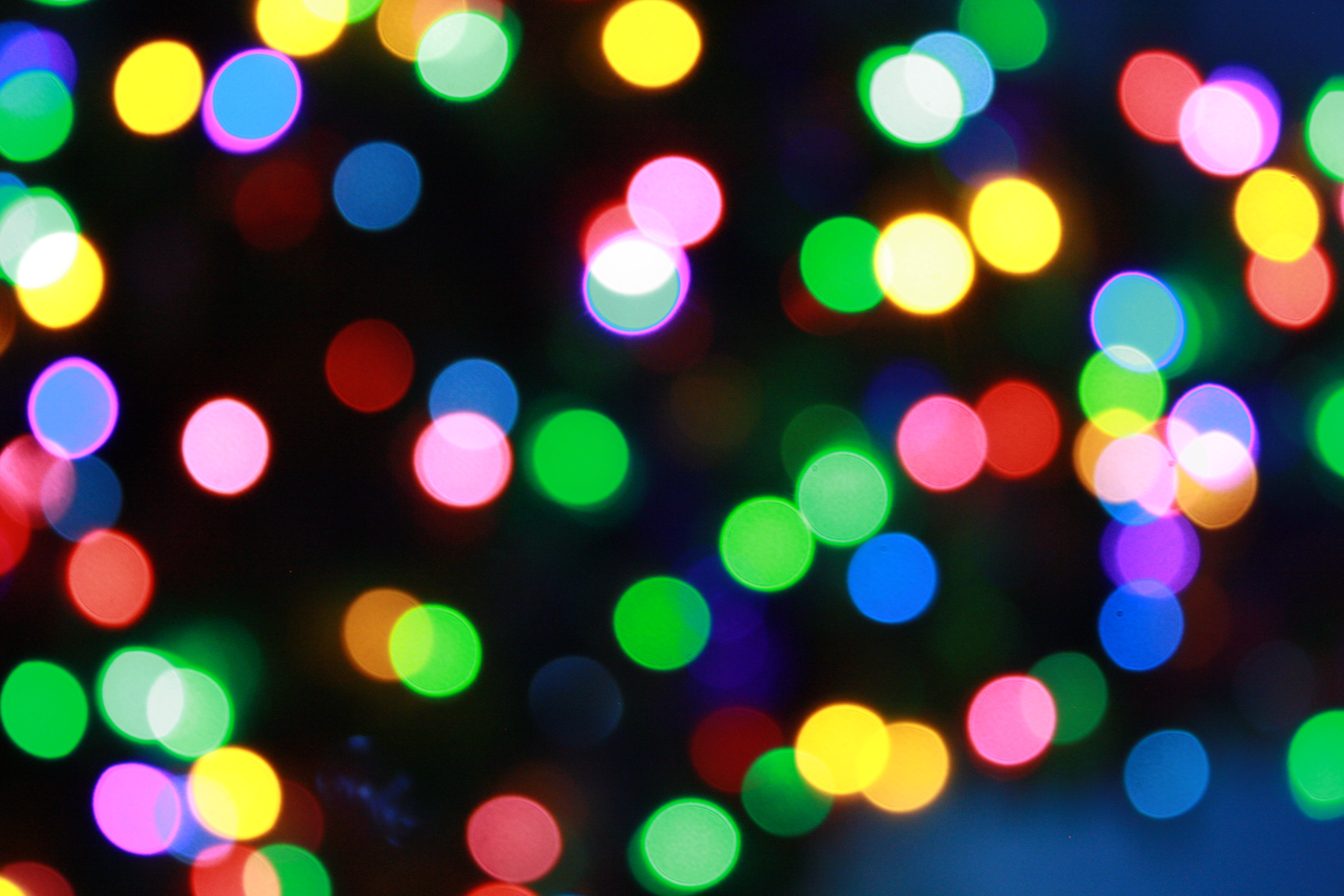 Blurred Christmas Lights Picture | Free Photograph ...
