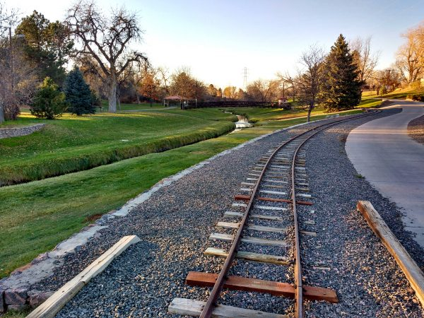 Train Tracks, Stream, and Path through Park - Free High Resolution Photo