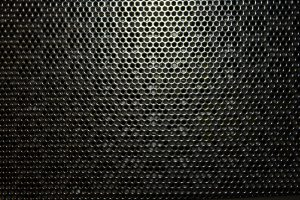 Black Metal with Holes Texture - Free High Resolution Photo