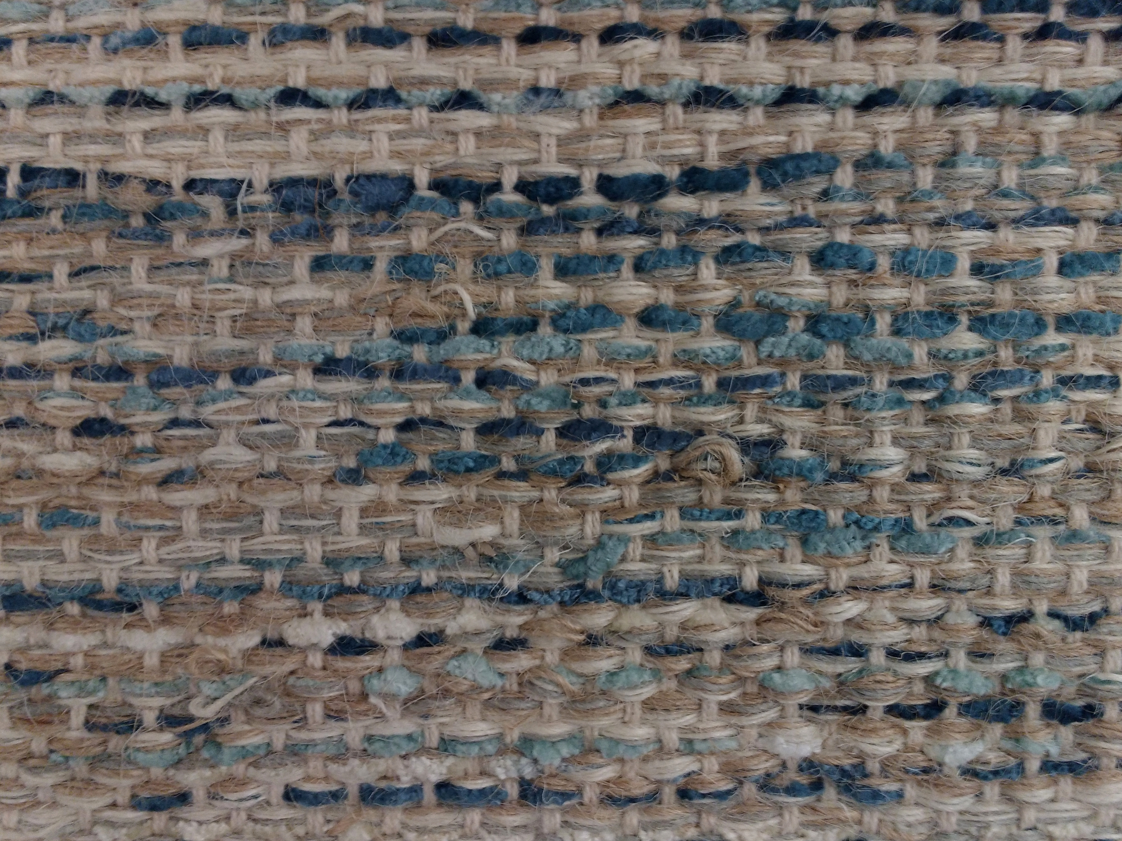Brown And Blue Woven Rug Texture Picture Free Photograph