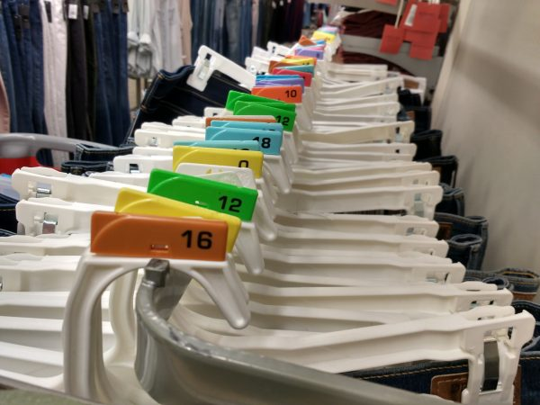 Jeans on Size Marked Hangers - Free High Resolution Photo